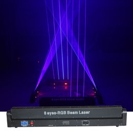 professional lights Australia - 2.4W 8 Eyes RGB Beam Laser Projector Moving Light DJ Show Gig Bar Background professional Stage Lighting Effect 8E-RGB