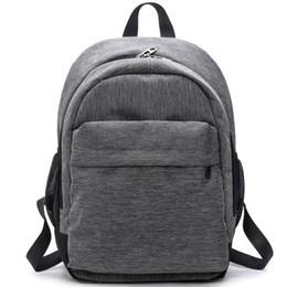 Ladies Laptop rucksack online shopping - Waterproof Canvas Backpacks Ladies Shoulder Bag Rucksack School Bags for Girls Travel Gray Blue Laptop Bags Red Black K2827