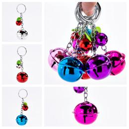 $enCountryForm.capitalKeyWord Australia - fashion cute candy color bell key ring couple pendant two-color metal paint Keychains lady bag pendant T2C5044