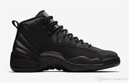 Real Authentic Shoes UK - 2018 Authentic Air 12 WNTR Black Anthracite Men Basketball Shoes Gym Red Real Carbon Fiber Sports Sneakers BQ6851-001 With Original Box