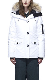 Discount down coat canada winter - Winter Down Parkas Hoody Canada Kensington Wolf Fur Womens Jackets Zippers Designer Jacket Warm Coat Outdoor Parka