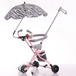 $enCountryForm.capitalKeyWord Australia - Five-wheeled baby stroller anti-skid baby artifact trolley flash anti-rollover simple lightweight folding three-wheeled trolley