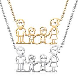 Amethyst Pendants For Men Australia - Fast-selling stainless steel family pendant necklace for men and women