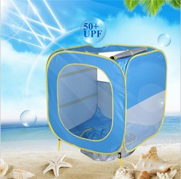 camping toys for kids Canada - Camping Tents Beach Swimming Pool Toy Foldable Pool Tent kids Baby Play House Indoor Outdoor UV Protection Sun Shelters For Children LXL81