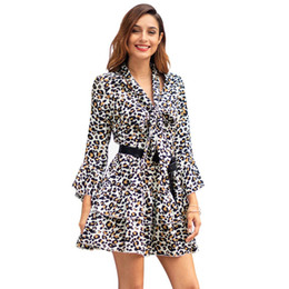 aa77b93b0148 Cross-border women s 2019 spring and summer new long-sleeved lapel Slim  dress Amazon wish explosion models a generation wholesale
