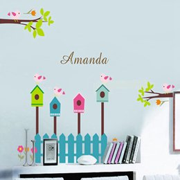 Bird Removable Wall Stickers Australia - New Hot Selling Removable Kindergarten Bedroom Background Decoration Wall and Bird Barrier Sticker