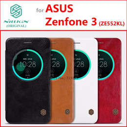 Wholesale original nillkin case for sale - Group buy Leather Case for asus Zenfone ZE552KL Original NILLKIN Qin Series Classic Flip Cover for asus Zenfone ZE552KL