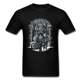 Cotton City T Shirts Australia - Halloween Winter In The City T-shirt Men T Shirt Black Tshirt Cotton Tee Cartoon Tops Bats Zombies Printed Clothing Cosplay