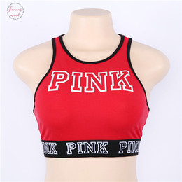 Sexy exerciSe women online shopping - 2019 Sexy Women Tank Tops Quick Dry Tight Fitness Sleeveless Love Pink Sashes Letter New Print Singlet Exercise Workout T Shirt