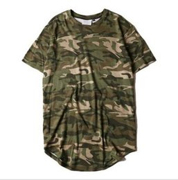 $enCountryForm.capitalKeyWord Australia - New2019 Style Summer Striped Curved Hem Camouflage T-shirt Men Longline Extended Camo Hip Hop Tshirts Urban Kpop Tee Shirts Mens Clothes
