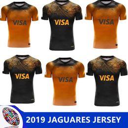 Опт 2019 JAGUARES домашняя выездная регби Лига трикотажных изделий 2019 домашняя выездная регби Лига трикотажных футболок ягуары размер леопарда S-M-L-XL-XXL-3XL