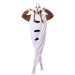 cute kigurumi costumes 2019 - Cartoon Snowman Onesie Kigurumi Women Adult Pajama Snow Winter Overall Cute Outfit Carnival Festival Party Polar Fleece