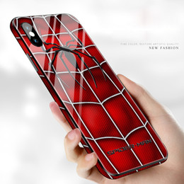 Marvel apple online shopping - 2019 Marvel Avengers pattern phone case for iPhone plus X XR XS Max hard Glass cover Good Quality