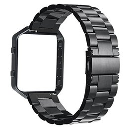 $enCountryForm.capitalKeyWord Australia - V-MORO Stailess Steel Watch Band With Metal Frame House 2 in 1 Replacement Strap for Fitbit Blaze Smart Fitness