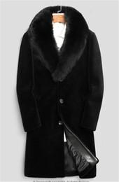 Опт 20FW зима Mens конструктора Куртки Hombres Теплого Ветровка Long Wool бленда Outerwears пальто Черные сгущают пальто