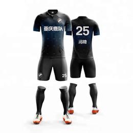 69de20724 Men Striped Football Jerseys Team Sports Kit Soccer Jersey Sets Uniforms  Shirts Shorts Kit Maillot De Foot DIY jersey sets