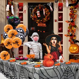 $enCountryForm.capitalKeyWord Australia - Home Halloween Party For Halloween Decoration Set Horror Props Spider Pumpkin Haunted Black Lace Tablecloth Decor Party Supplies
