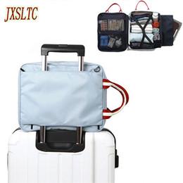 Storage Packs Australia - wholesale Nylon organizer Duffle Bag Men Travel storage Bags Foldable Suitcase Weekend Bag Female Packing Cubes Tote Luggage