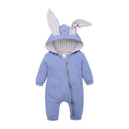98f9d14946ca Cute Rabbit Ear Hooded Baby Rompers For Boys Girls Newborn bunny ear  Climbing clothes Jumpsuit Infant Costume Baby sleeping bags B11