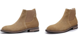 Knight Hair Australia - Spring European and American men a pedal Chelsea boots matte suede high-top shoes British tide Martin hair stylist boots