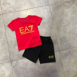 girls opening clothes UK - 2020 HOT SELL classic New Style Childrens Clothing For Boys And Girls Sports Suit Baby Infant Short Sleeve Clothes Kids Set iborius8s er3