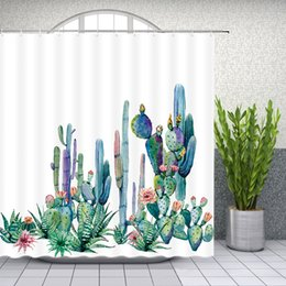$enCountryForm.capitalKeyWord Canada - Cactus Floral Shower Curtains Watercolor Plant Flower Bathroom Decor Waterproof Polyester Fabric Shower Curtain Set 69 X 70 Inch With Hooks