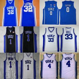 8c599a089e6 Mens Duke Blue Devils College 0 Jayson Tatum 4 Redick 1 Kyrie Irving 33  Grant Hill 3 Grayson Allen 32 Christian Laettner Basketball Jerseys