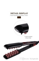 rohs display Canada - Fluffy Hair Straightener Hair Volumizing Iron Flat Iron Digital Flat Iron With LCD Display Electric Fluffy Styling Hair Lifter