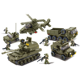 China B0311 996pcs Military Block Army Joint Attack Truck Building Blocks Bricks DIY Toys Hobbies 3D Construction Toys For Children suppliers
