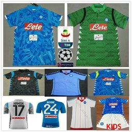 4dd2fa1cc0d 18 19 Napoli Football Jerseys Hamsik Insigne Mertens Milik Callejon  Maradona Zielinski Custom Home Away Naples Adult Kids 2019 Soccer Shirt