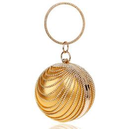 $enCountryForm.capitalKeyWord Australia - ABDB-Woman Round Ball Clutch Handbag Rhinestone Ring Handle Purse Evening Bag(Gold)