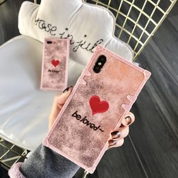 Iphone Back Hot Pink Australia - pink heart good quality fashion hot phone Case for iPhone 6 6s 7 8 8plus XR X back cover shell for iphone x xr 7plus case