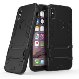 Solid Iphone Cases Australia - Cell Phone Case 8 Solid Colors Iron Man Invisible Bracket All-inclusive Armor Anti-fall Sleeve New for Iphone XR XS X MAX X 7P 8P 7 8 OPP