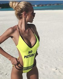 $enCountryForm.capitalKeyWord Australia - Hot One Piece Letter Swimsuit Sexy Padded Momokini Women Swimwear Pink No Picture Momokini Summer Bathing Suit Beachwear