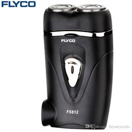 Shavers For Head Australia - FLYCO Rotatable Double Head Small Electric Shaver Rechargeable Razor Rechargeable Electric Shavers For Men Face Shaver Free Shipping Hot