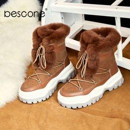 $enCountryForm.capitalKeyWord Australia - BESCONE Fashion Women Boots Casual Lace-Up Square Heel Shoes Winter Comfortable Round Toe Handmade Med Heel Ladies Boots BO282