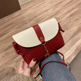 $enCountryForm.capitalKeyWord Australia - Pretty2019 Change Cross Section Square Fawn Single Shoulder Satchel Women's Small Bag Mini- Mobile Phone Package