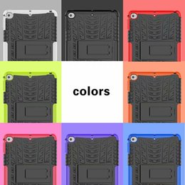 Wholesale Ipad Skins NZ - 2 in 1 Armor Hybrid Hard PC Silicone Case For Ipad Mini 5 4 Mini5 Mini4 Ballistic Heavy Duty Defender Kickstand Stand Skin Cover 30pcs