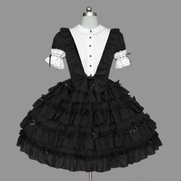 sweet lolita dresses Australia - Japan style lolita dress gothic two pieces set lace bowknot sweet gothic victorian dress classic lolita kawaii cos loli op party