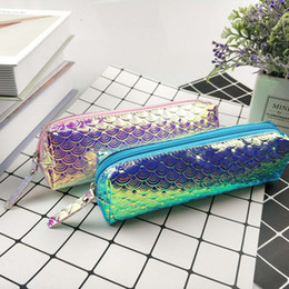 fresh fishing Canada - Fish Scale Pencil Case Laser Glitter Pencil Bag Cosmetic Makeup Pouch Holder Girls Gift Fast Shipping F2475