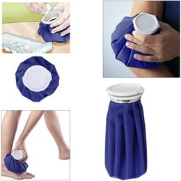 sports ice bag 2019 - Reusable 6 inch Sport Injury Ice Bag Medical Cooling Cloth Ice Bag Customizable Blue First Aid Health Care Cold Therapy