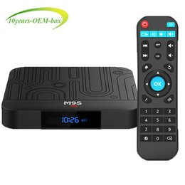 Discount best media player - Factory best seller M9S W1 Set-top TV Box 2GB RAM DDR3 16GB Android 7.1 Amlogic S905W Quad-core CPU 2.4GHz WiFi ROM 4K M