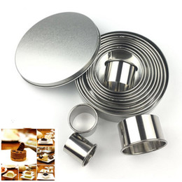 $enCountryForm.capitalKeyWord Australia - Kitchen Bakeware Stainless Steel Round Cookie Cutter Slicers Bread Biscuit Fondant Cake Mold Tool 12pcs set