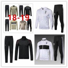 Full Zip Jacket Polyester NZ - 18 19 Juventus football training suit 2018-19 RONALDO DYBALA Juventus tracksuit juve full zip soccer jacket sportswear