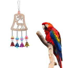 $enCountryForm.capitalKeyWord Australia - Bird Toys Small Pet Supplies Wooden White Deer With Bells Bird Toy For Parrots