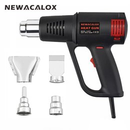 Wholesale NEWACALOX Industrial Electric Hot Air Gun EU V W Electrode less Thermoregulator Heat Gun Plastic Torch for Car Foil Tools