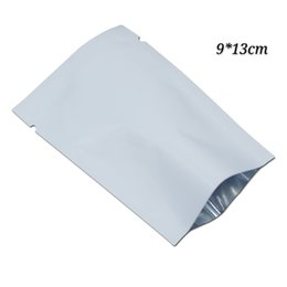 $enCountryForm.capitalKeyWord UK - 100pcs 9*13cm (3.54*5.11inch) aluminum foil white mylar open top package bags flat candy coffee vacuum package bag food heat seal pouch