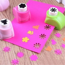 Print Scrapbook Australia - Baby 1PCS Drawing Toys Child 20 Styles Hole Punch Mini Printing Paper Hand Shaper Scrapbook Tag Card Craft DIY Punch Cutter Tool
