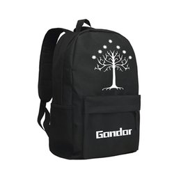 lord rings style 2020 - The Lord of the Rings Backpack White Tree of Gondor Daypack