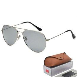 03de428de54 58MM Luxury Ray Brand Sunglasses Men Women Pilot Sunglasses UV400 Eyewear  Aviator Glasses Driver Bans Metal Frame Polaroid Lens